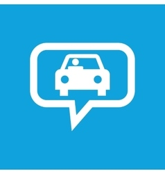 Car message icon vector