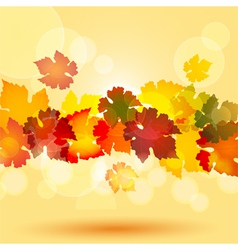 Colourful autum leaves in a horizontal border styl vector