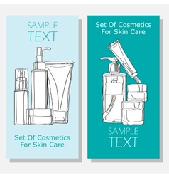 Cosmetic banners vector