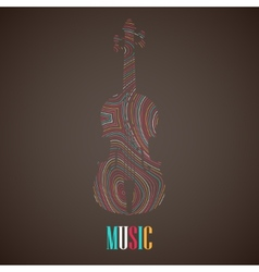 With the multicolored violin vector
