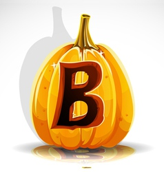 Halloween pumpkin b vector