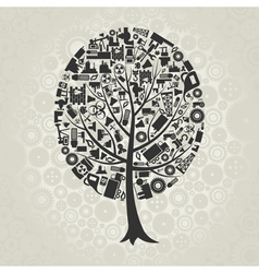 Tree of industry vector