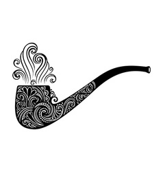 Tobacco pipe icon vector