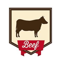 Beef design vector