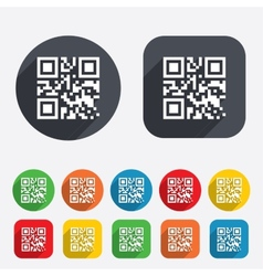 Qr code sign icon scan code symbol vector