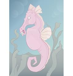 Spooky seahorse vector