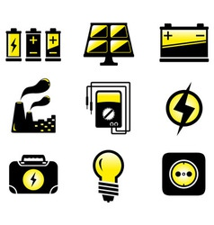 Set electrical equipment vector