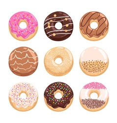 Donuts collection part 1 vector