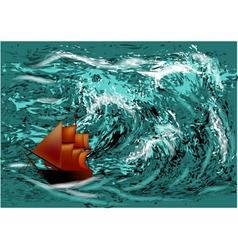 Ocean hurricane vector