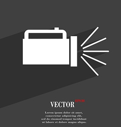 Flashlight icon symbol flat modern web design with vector