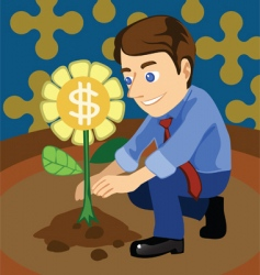 Grow money vector