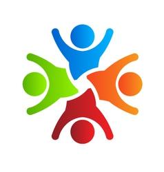 Happy party 4 logo design element vector