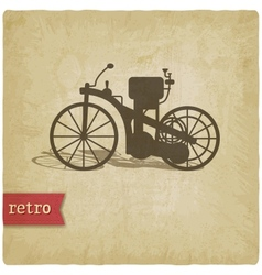 Vintage background with motorcycle vector