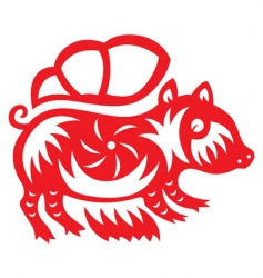 Chinese astrology boar vector