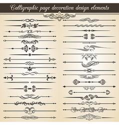 Calligraphic vintage page decoration design vector