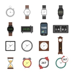 Time icons flat vector