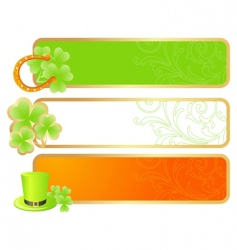 Banners for st patrick's day vector
