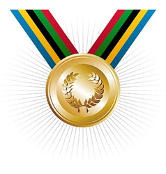 Olympics games gold medal vector