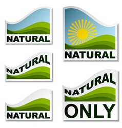 Natural landscape stickers vector