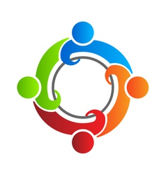 Team reunion 4 logo design element vector