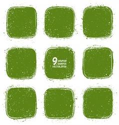 Grunge retro green shapes vector