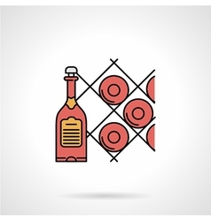 Wine cellar flat color icon vector