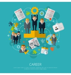Human resources career concept print vector