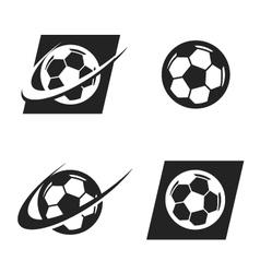 Swoosh soccer ball logo icon vector