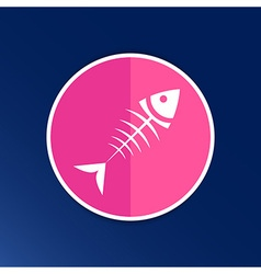 Fish menu design template logo icon vector