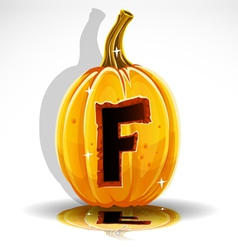 Halloween pumpkin f vector