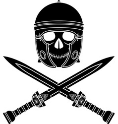 Skull of the warrior third variant vector