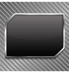 Black metallic frame vector