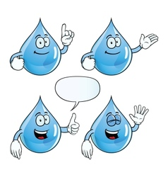 Smiling water drop set vector