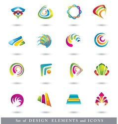Set of abstract design elements or icons vector