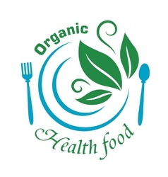 Organic health food icon vector