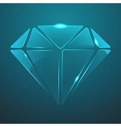 Glass diamond icon eps10 vector