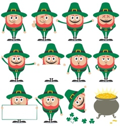 Leprechaun set vector