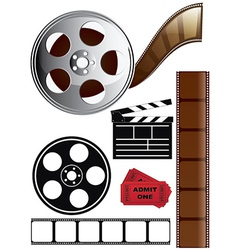 Film icon set vector