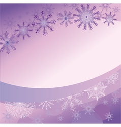 Purple background with delicate snowflakes vector
