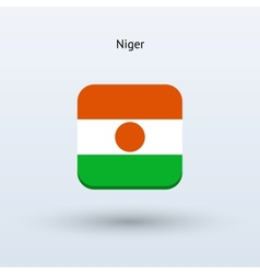 Niger flag icon vector