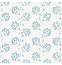 Grunge seamless wallpaper with retro print vector