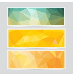 Polygon abstract banner pattern background in flat vector