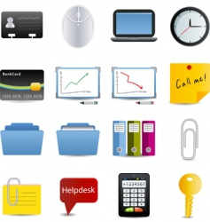 Business and office icons set vector