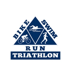 Triathlon swim bike run race vector