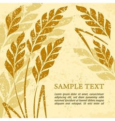 Ears of wheat background on vector