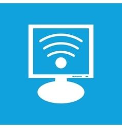 Wi-fi monitor icon vector