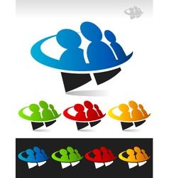 Swoosh people logo icon vector