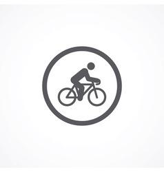 Cyclist icon vector