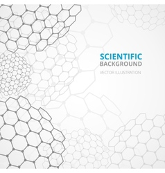 Science background template print vector