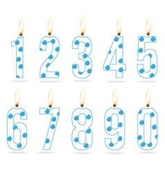 Birthday numeral candles boy vector